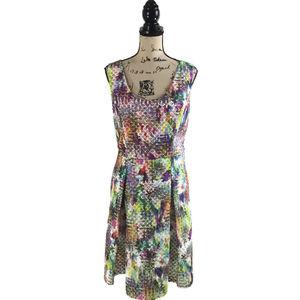 New York & Company 16 Dress Pleated Sleeveless